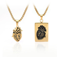 New Heart Shape Pendant Necklace Gift For Women Choker Two Necklaces Couple Gold Silver Initial Pendants