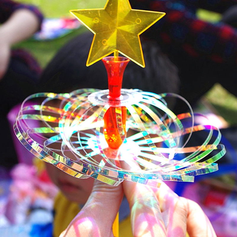 Creative Magic Bubble Magic Wand Puzzle Glow Toy Twist Magic Trick Bubble Fairy Stick Holiday Gift For Children
