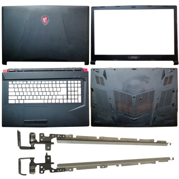 For MSI GL73 8RC GL738RD MS-17C6 GL73 8RE MS-17C5 GL73 7RD MS-17C4 NEW Laptop LCD Back Cover/Front Bezel/Hinges/Palmrest/Bottom bottom case for msi gs60 ms 16h2 ms 16h21 ms 16h2c ws60 px60 gs70 gs73 ms 1772d ms 17711 black plastic red 772d612y77 metal