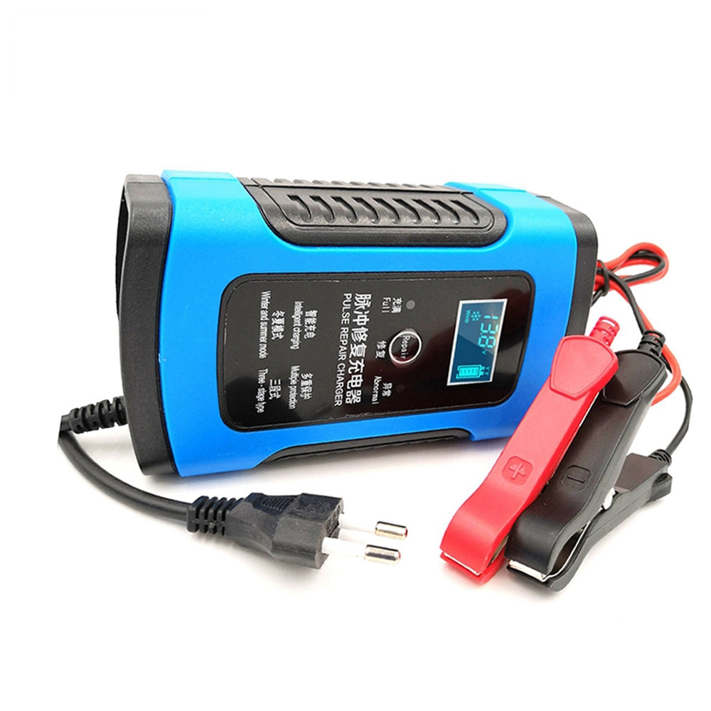 12V 6A Battery Charger Automatic Maintainer Portable Smart Lead Acid Batteries Power Charging Adapter For Automotive Truck Car