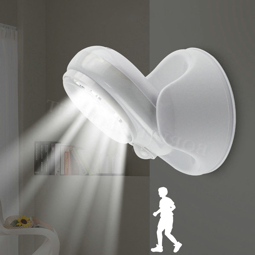Wireless Infrared Motion Activated Sensor Light Lamp 360 Degree Rotation Motion Wall Lamps Toilet Night Light Outdoor Lights
