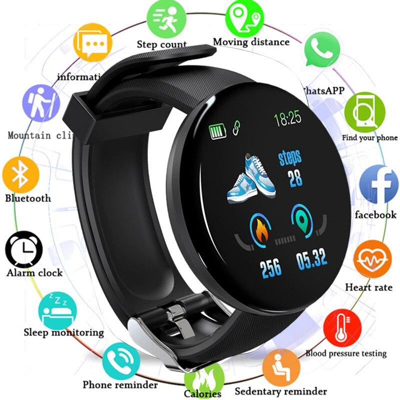 Bluetooth relógio inteligente relógio masculino mulher monitor de freqüência cardíaca smartwatch pressão arterial fitness rastreador relógios à prova dwaterproof água para android ios