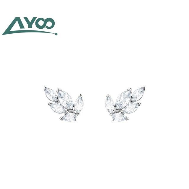 AYoo haute qualité SWA feuilles frais et élégant sauvage femelle boucles doreilles boucles doreilles accessoires dames cadeaux
