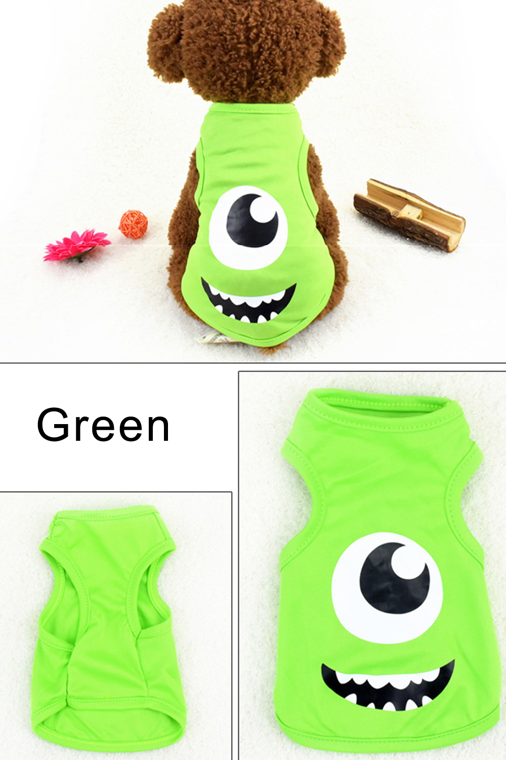 Pet Cat Clothes for Cats Summer Vest T Shirt Dog Cat Clothes Costume for Small Dogs Cartoon Vest for Puppy 35 (18)