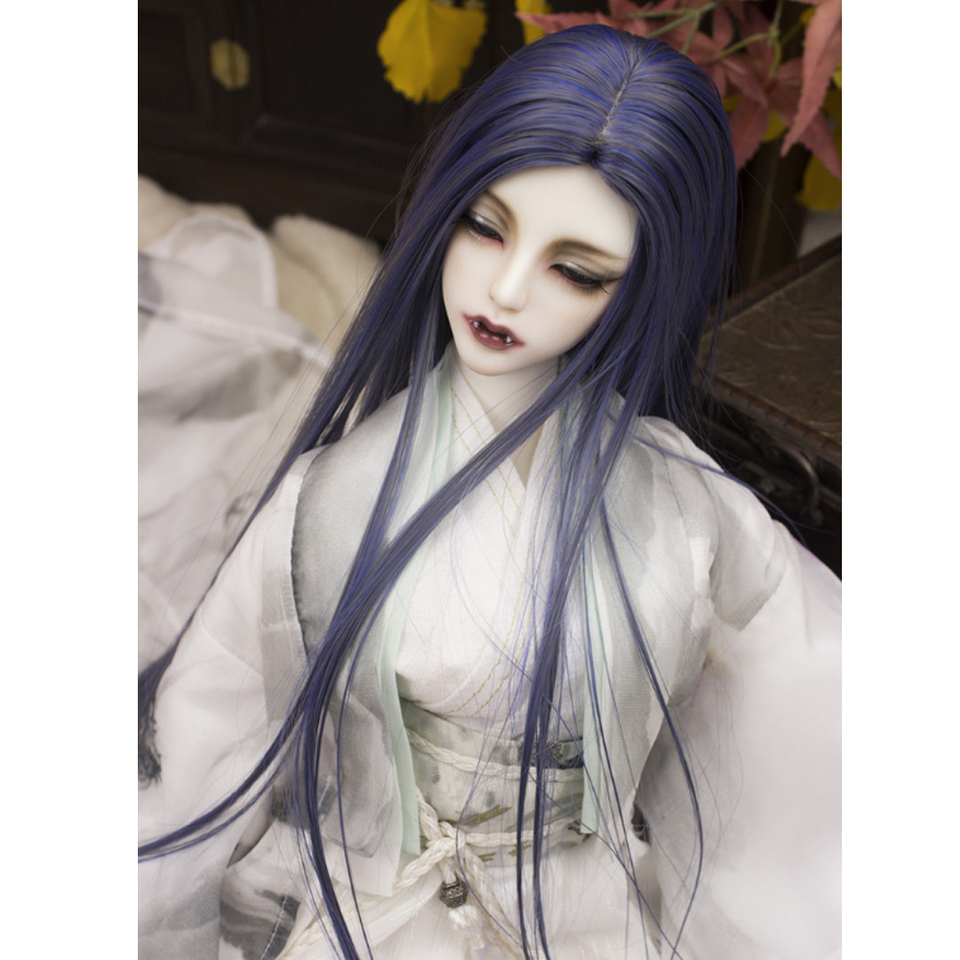 Red 1//3 Male BJD Mixed-Colored Straight Hair Wig for Normal 70cm Uncle Dolls