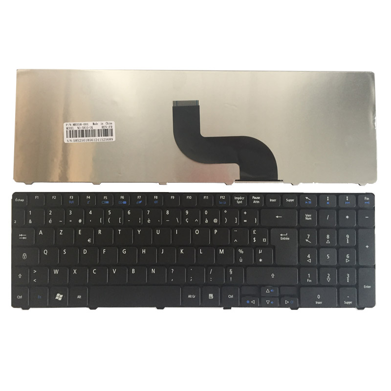 French Keyboard For Acer Aspire 7750 7750G 7750Z 7235 7235G 7250 7250G 7251 7331 7336 Black FR AZERTY Laptop Keyboard