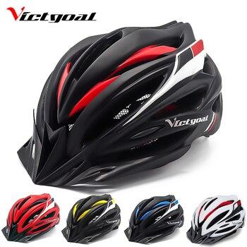 Victgoal capacetes de bicicleta led das mulheres dos homens esportes polarizados óculos de sol luz traseira mtb mountain road ciclismo capacetes 1