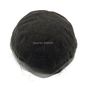 Image 3 - الدانتيل الكامل قاعدة رجل باروكة من شعر طبيعي شعر ريمي الشعر المستعار نفاذية الهواء جيدة