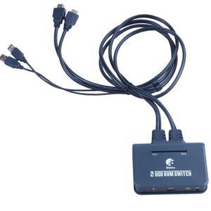 2 порта HDMI KVM переключатель с кабелем USB порт для монитора клавиатуры мыши