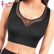 SEXYWG Sport Bras Gym Underwear Women Yoga Shirt Breathable Mesh Tank Tops Runni