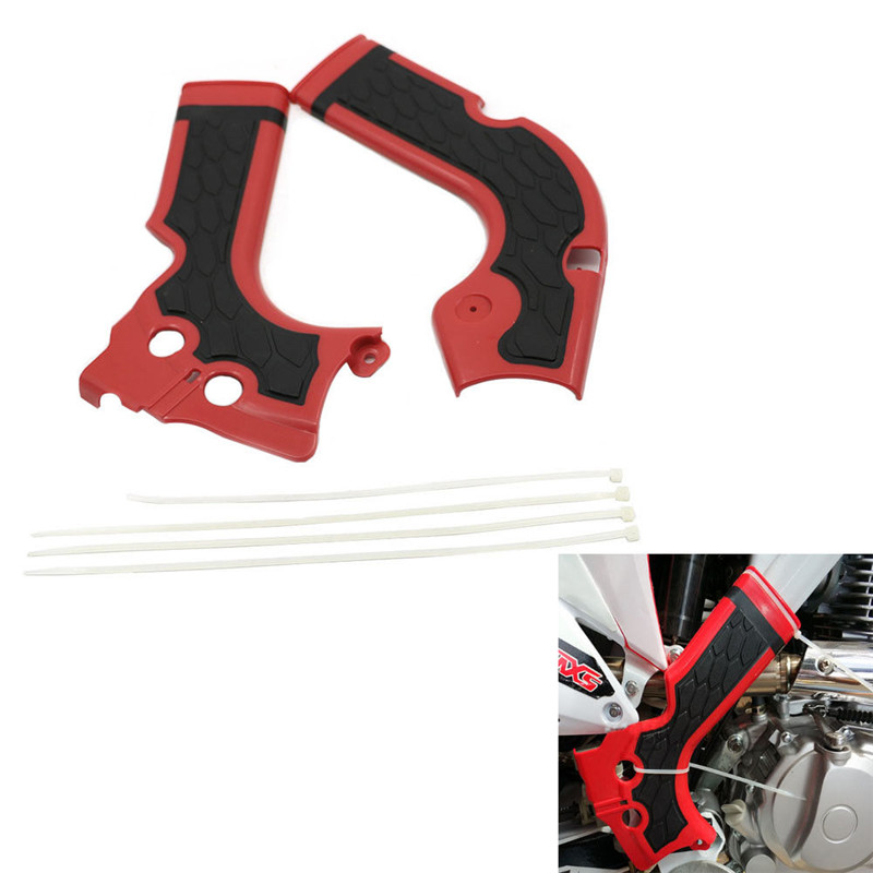2X ABS Plastic Body Frame kit Crash Guard Protection For Honda CRF 250R 450R CRF250R 2014 2015 <font><b>2016</b></font> <font><b>CRF450R</b></font> 2013 2014 2015 <font><b>2016</b></font> image