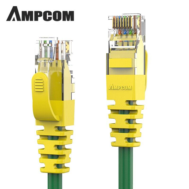 AMPCOM Ethernet Cable RJ45 Cat6 Lan Cable UTP CAT 6 RJ 45 Network Cable Patch Cord (1000Mbps 250Mhz 24AWG) For Desktop Computers