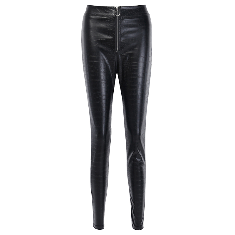 Hb4e0a144b29a4fafbcab842bd8542886p - InstaHot Elegant High Waist Faux Leather Pants Women Pencil Skinny Pants Office Ladies Trousers Casual Slim Black Capris