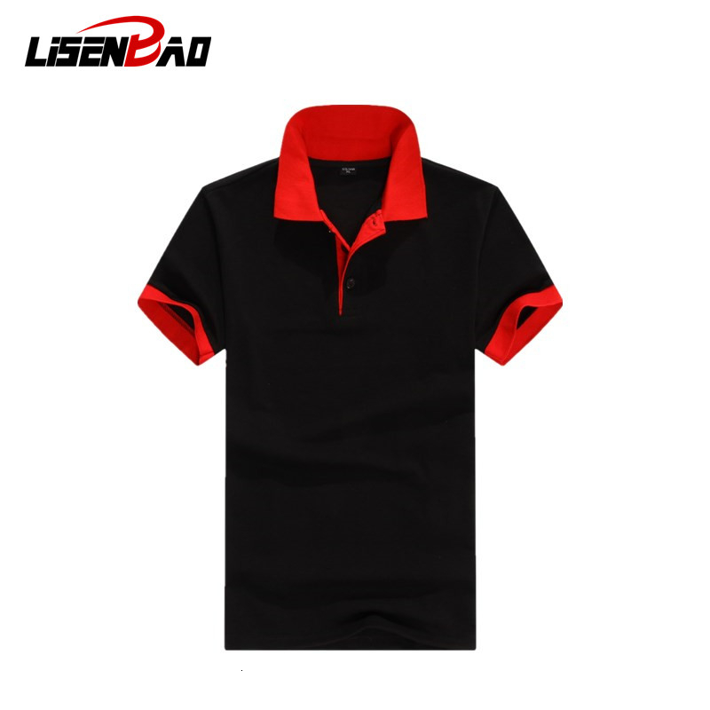 Accept custom logo Brand Clothing Men   Polo   Shirt Men Business Casual Solid Male   Polo   Shirt Short Sleeve High Quality Pure Cotton