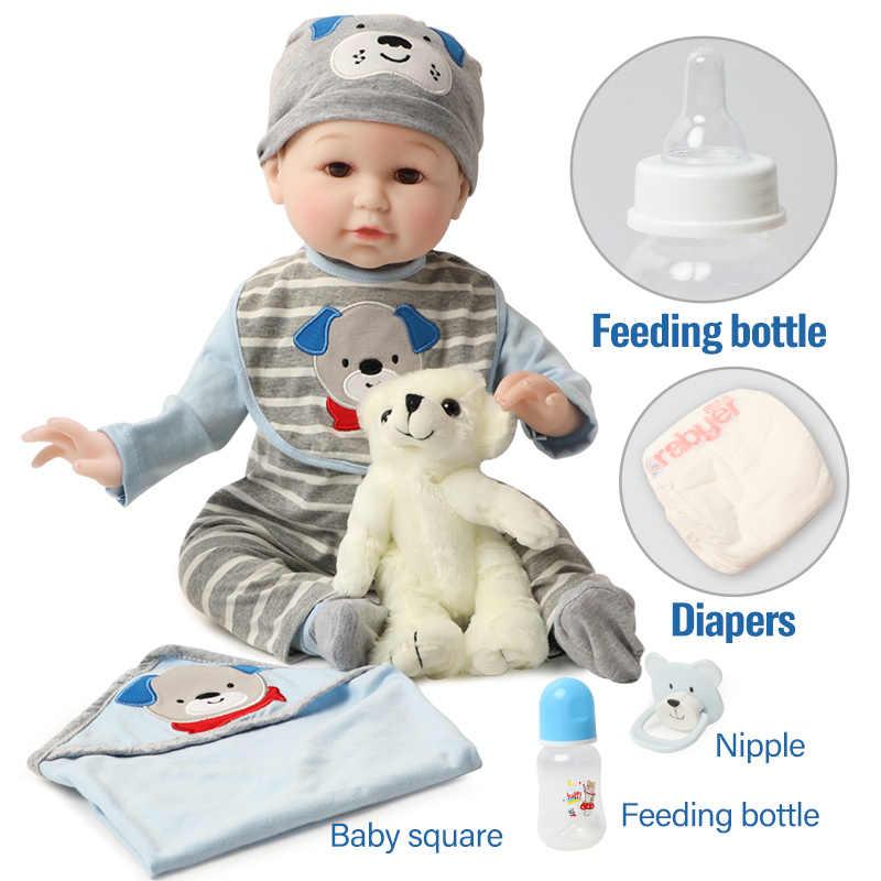 56 ซม.สมจริงเด็กวัยหัดเดินBebeตุ๊กตาBonecasเสื้อผ้าเหมือนจริง 22 นิ้วซิลิโคนReborn Babyตุ๊กตาหมีของเล่นสำหรับเด็ก