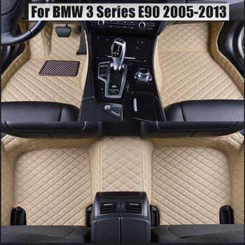 foot case car floor mats for BMW 3 series E90 E91 E92 E93 318d 320d 320i 325i 328i 325D 330d 335D 330i 335i 2005-2013 waterproof