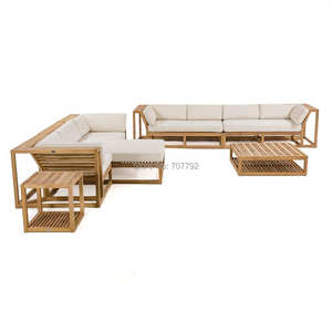 High end luxury outdoor teak lounge sofas leisure patio garden sofa sets furniture