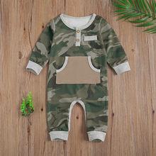Emmaaby/Одежда для новорожденных мальчиков; Камуфляжный комбинезон
