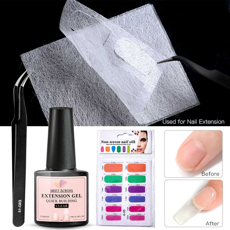 Voldoen Over 7Ml Poly Gel Set Quick Building Acryl Uv Gel Glasvezel Extension Fiber Vel Nail Art Tips Manicure tool