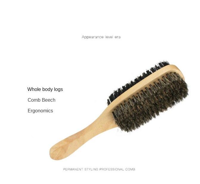 Escova de barba masculina dupla face escova