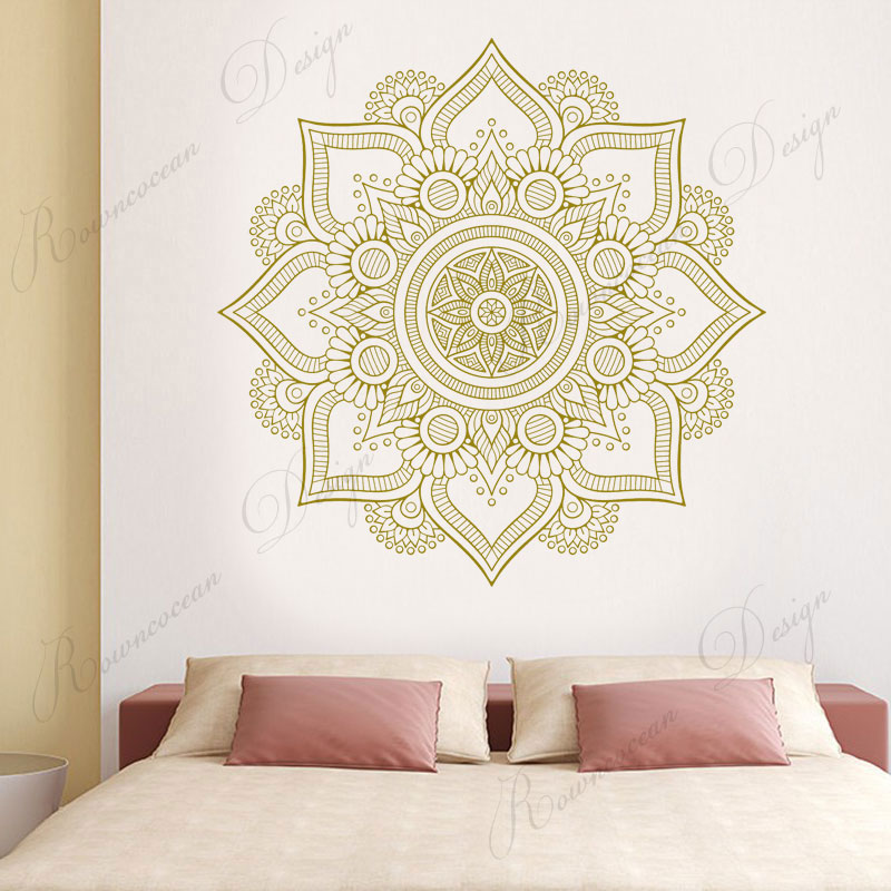 Creative Design Mandala Wall Sticker Vinyl Art Home Decor Living Room Bedroom Headboard Decoration Decals Removable Mural 4089