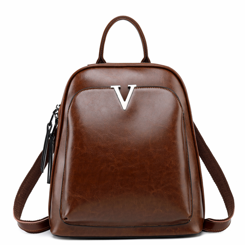Women 100% Genuine Leather Female Backpacks High Quality Backpack Big Capacity Leisure Style Girl Schoolbag Big Travel Bags