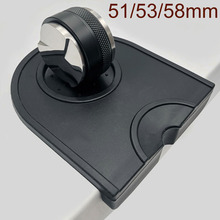 Tamper Coffee Leveler Adjustable Depth-Espresso Silicone with Mat Dual-Head 53/58mm