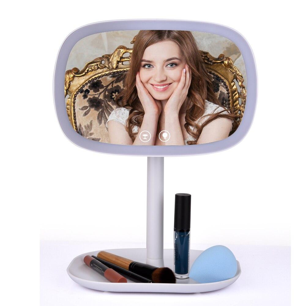 espelho de tela sensível ao toque maquiagem