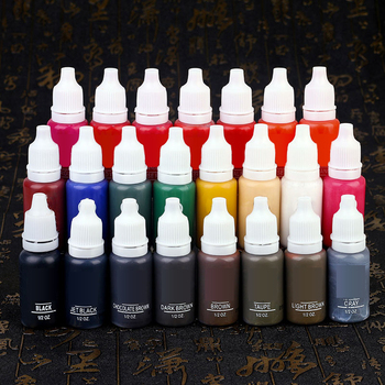 23Pcs 1/2oz Permanent Makeup Micro Pigment Tattoo Ink Eyebrow Eyeliner Lip Body Tattoo Art Beauty supplies
