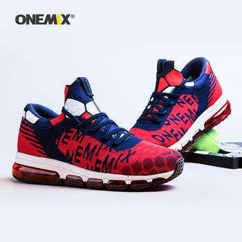 Onemix Running Shoes for Men Hight Sneakers Air Cushion Outdoor Trekking Knit Mesh Vamp Damping Outdoor Jogging Walking Shoes onemix running shoes for women sports shoes sneakers damping air 270 cushion breathable knit mesh vamp for outdoor walking shoes