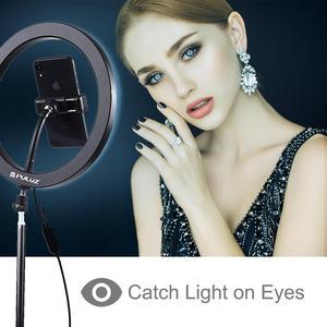 Image 5 - PULUZ 12 inç 30cm kısılabilir RGB tam renkli LED Selfie halka ışık kamera telefon fotoğrafçılığı Video makyaj lambası soğuk ayakkabı tripod kafası