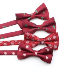 Bowtie Christmas Butterfly Baby Kids Children Polyester Snowflake Festival Pet Classical