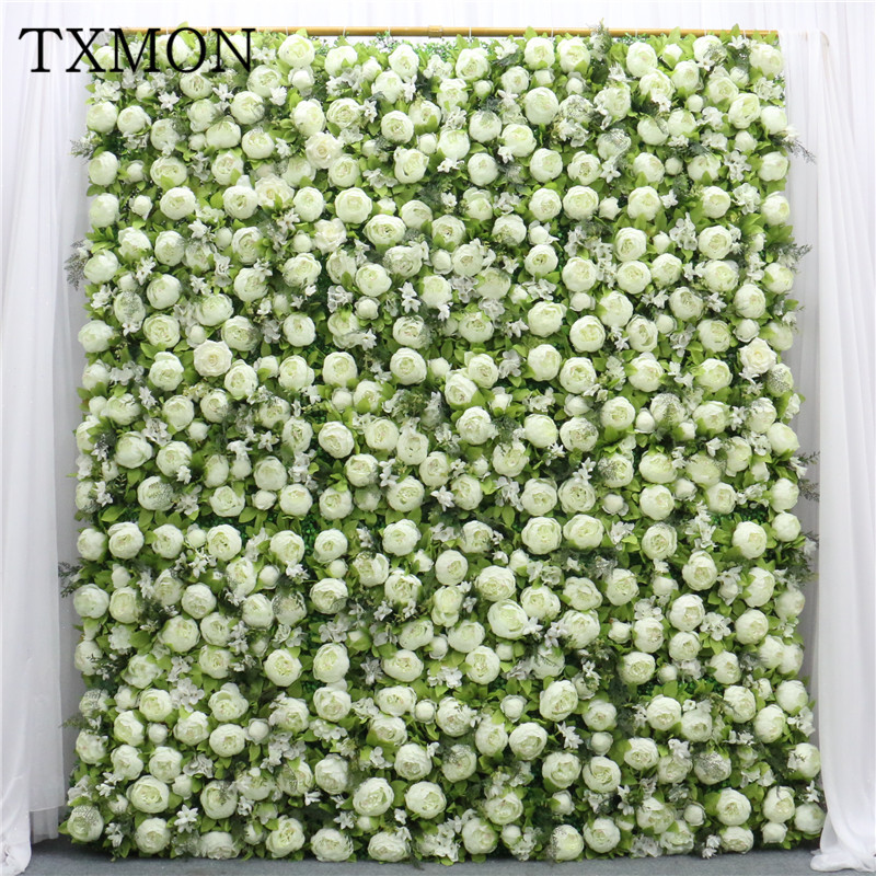 1pc Silk Peony Flower Wall European Style Artificial Flowers For Wedding Decoration Photography Background Store Decor Fleurs-in Artificial & Dried Flowers from Home & Garden    1