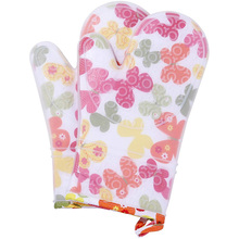 Food Grade Thickened Cotton Double-Layer Silicone Gloves