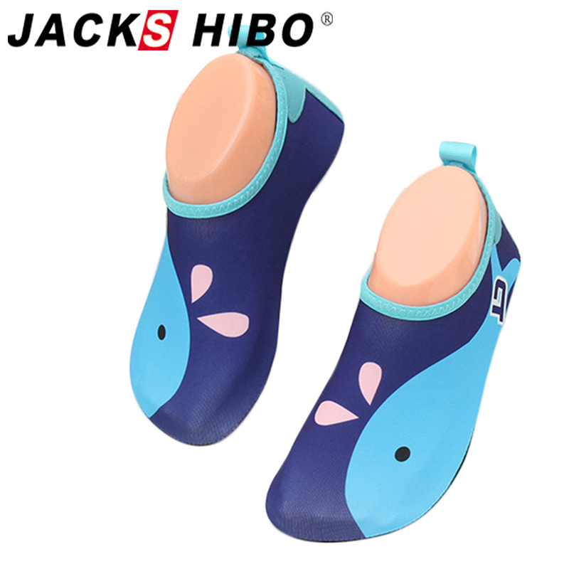 JACKSHIBO Cute Kids Sea Water Shoes Anti-slip Barefoot Shoes Kids Swimming Shoes For Kids Sneakers Outdoor Beach Aqua Shoes