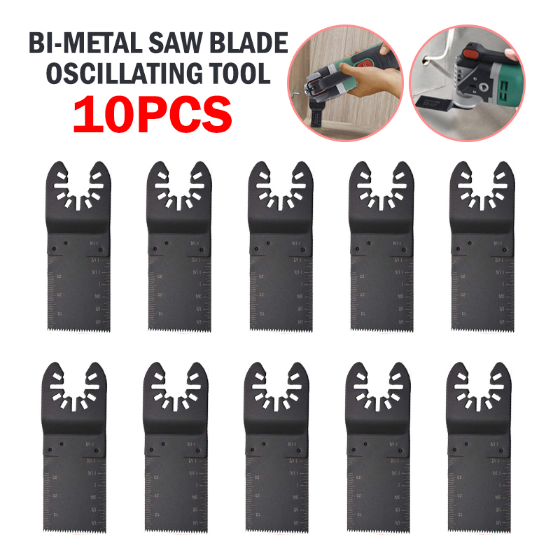 Multifunctional 10Pcs Oscillating Multi Tool Bi-metal Saw Blade Metal Cut For DeWalt Porter Cable Power Tool Saw Blade Parts