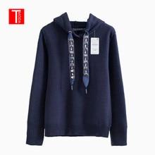 Pullovers Women TMODA Sweatshirts Tops Hoodie Knitted Long-Sleeve Casual Beading Femme