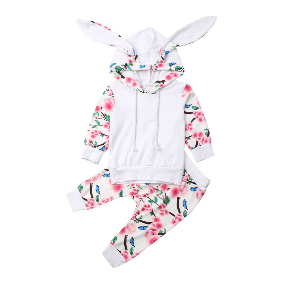 UK Stock Newborn Baby Girl Boy 0-24MHoodie Tops Pants 2Pcs Outfits Set Clothes