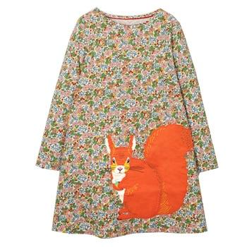 Girl Dress Long Sleeve Kids Dresses for Girls Cotton Clothes Autumn Winter Princess Party Tutu Dress Baby Unicorn Clothing 3