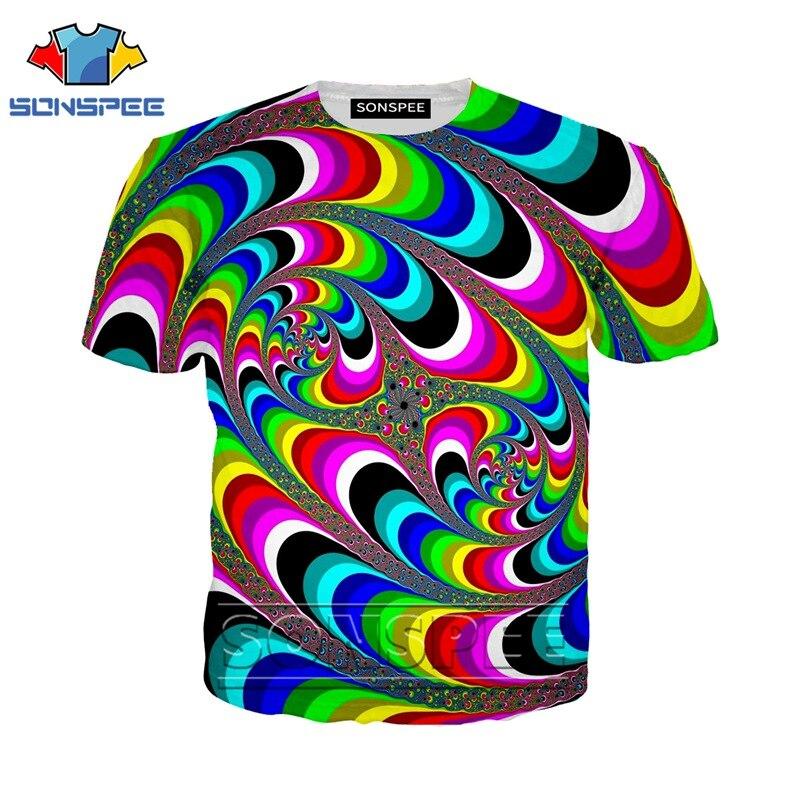 Anime 3d Print T Shirt Streetwear Psychedelic Men Women Casual Hypnotize Fashion T-shirt Harajuku Kids Shirts Homme Tshirt A97