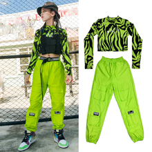 Girls' Hip-Hop Dance Costumes Green Hiphop Suit Children'S New Overalls Jazz Performance Clothes Catwalk Stage Outfits DN6783