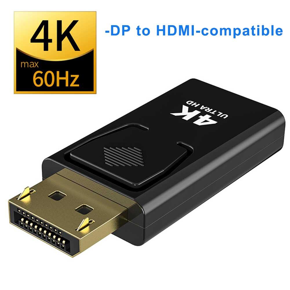 Кабель-переходник «штырь-гнездо», переходник DP в HDMI-совместимый с макс. 4K 60 Гц Displayport для ноутбуков, ПК, проекторов HDTV