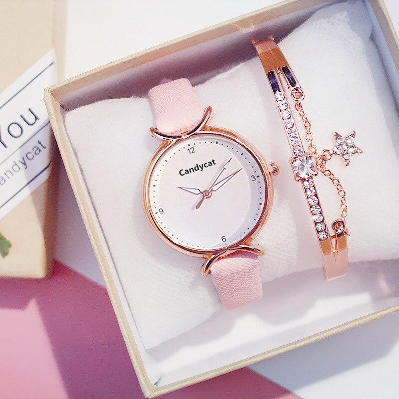 Простой женский браслет часы модные повседневные кожаные женские наручные часы Аналоговые кварцевые наручные часы женские часы relogio feminino