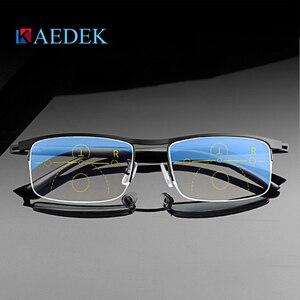 Image 1 - KAEDEK בציר קריאת משקפיים נשים גברים רטרו סגסוגת מרשם משקפי מלבן עסקים רוחק פרסביופיה משקפיים
