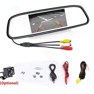 """Image 5 - Авто зеркало заднего вида Podofo, автомобильное зеркало с монитором 4.3"""", системой автопарковки, светодиодной подсветкой и ночным видением, с CCD камерой заднего вида"""