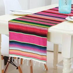 1 pçs 35*215cm algodão mesa bandeira estilo mexicano toalha de mesa festa aniversário casamento decoração suprimentos