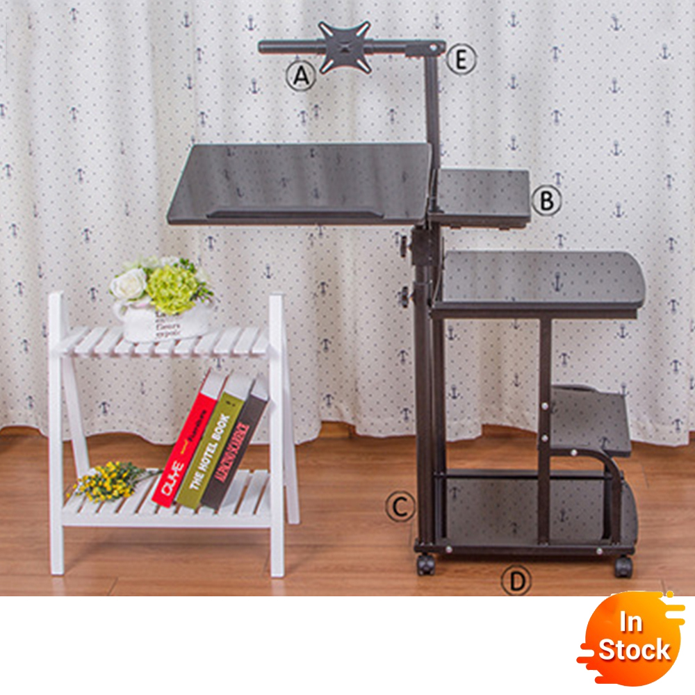 DesktoFoldable Computer Table Adjustable Portable Laptop Desk Rotate Laptop Bed Table Can Be Lifted Standing Desk