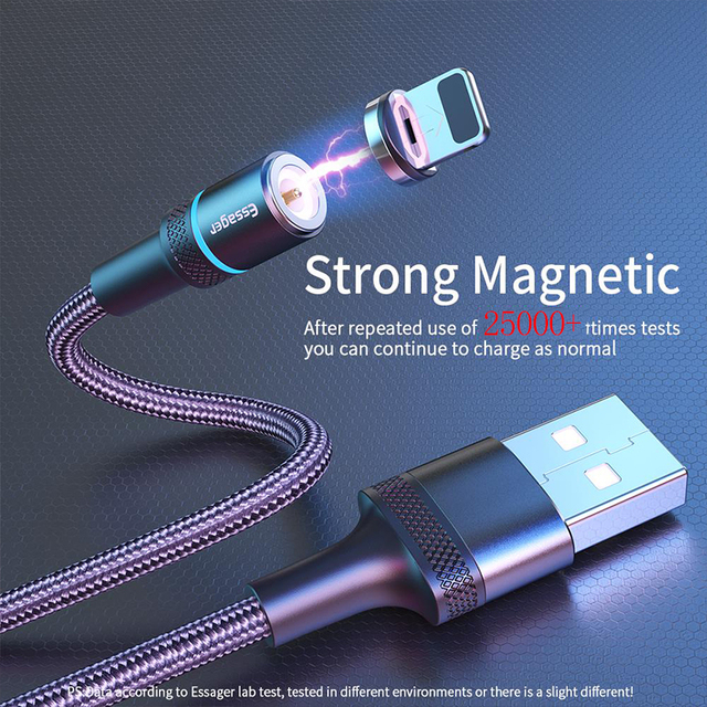 Essager Magnetic Charger Micro USB Cable for iPhone Samsung Android Mobile Phone Fast Charging Wire Cord Magnet USB Type C Cable 2