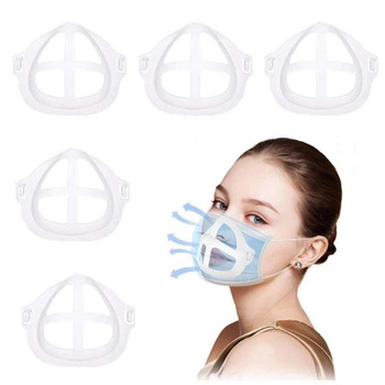 3D Mouth Mask Support Breathing Assist Help Mask Inner Cushion Bracket Food Grade Silicone Mask Holder Breathable Valve 1