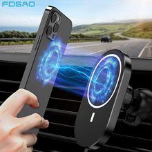 15W Magnetic Wireless Car Charger for iPhone 12 Pro Max Mini Qi Automatic Induction Fast Charging Air Vent Mount Phone Holder